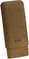 Adorini cigar case leather brown (2-3 cigars)